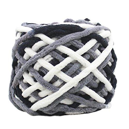 Xshaui 100 gramm schrumpfungsfest Kammgarn Super Weiche Glatte Naturseide Wolle Garn Stricken Pullover Stricken Chenille Garn (M) (Stricken Garn Kammgarn)