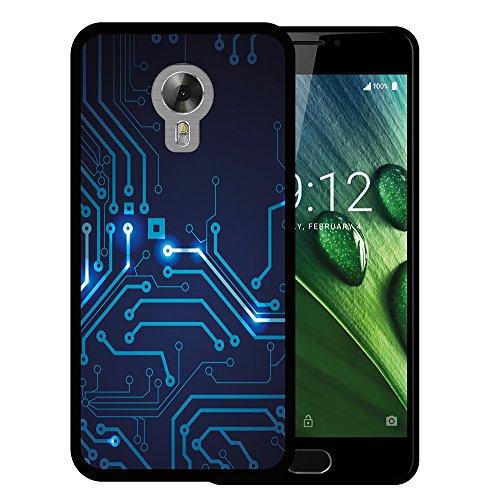 WoowCase Acer Liquid Z6 Plus Hülle, Handyhülle Silikon für [ Acer Liquid Z6 Plus ] R&gang Handytasche Handy Cover Case Schutzhülle Flexible TPU - Schwarz