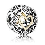 Pandora Damen -Bead Charms 925_Sterling_Silber zirkonia 792009CZ