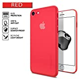 Cover iPhone 7, SPIGEN® Cover Custodia MORBIDA e SOTTILE solamente 0.3mm [Air Skin], Rosso