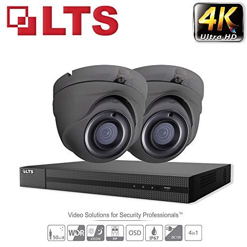 Dvr Security Kit (Hikvision iVMS-4500 Überwachungskamera-System, Ultra HD, 4 K, 4 Kanäle, DVR, HD, TVI, H.265+, DVR, 5 MP, bis zu 6 TB, 2,8 mm, Kuppel, 2 Kamera, für den Innen- und Außenbereich, 25 m Nachtsicht, IR-Kit)
