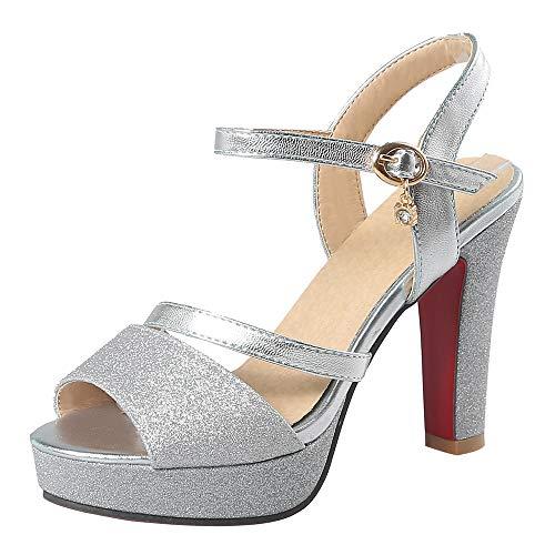 BeiaMina Mujer Zapatos Moda Tacón Alto Sandalias