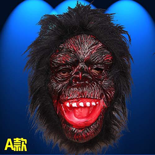 Haoxiaren maschere per adulti halloween ghost festival intero uomo horror divertente maschera in maschera maschera in lattice copricapo