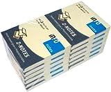 Global Notes 5644-01 Info X-tra - Memo adesivi con ripiegatura a Z, 75 x 75 mm, 100 fogli per blocchetto, giallo, 12 pz.