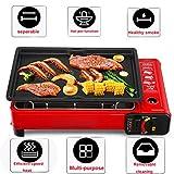 Barbecue a gas, barbecue portatile, barbecue interno o esterno, pulizia facile,...