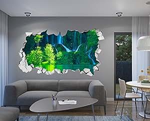 Carta da parati 3d effetto 87 x 48 cm adesivi decorativi for Parati 3d prezzi