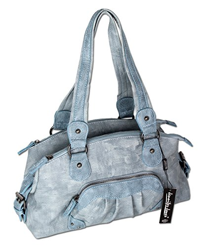 Jennifer Jones 3118, Borsa a mano donna, grigio chiaro (Grigio) - 3118 blu ghiaccio