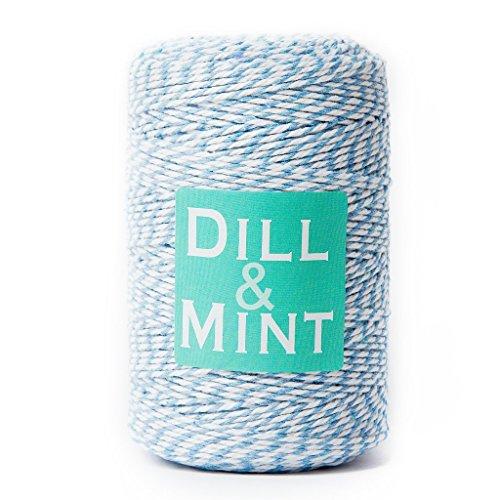 DILL - Spago bicolore blu e bianco, 200 m, ideale per confezionare regali e molto altro