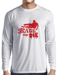 Camiseta de Manga Larga para Hombre Skate Die - for Professional Skateboarder, Quotes by Pro