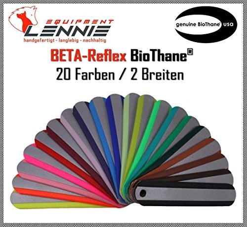 BioThane® Meterware, Beta Standard Reflex, 19-25 mm breit, ca. 2,5 mm dick, viele Farben, 19mm, Pastell-Orange