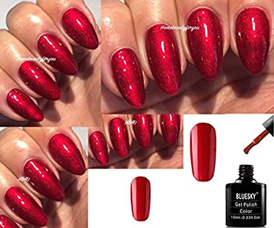 Bluesky 80607 Tartan Punk Valentine Red Contradictions Nail Gel Polish UV LED Soak Off 10ml PLUS 2 Homebeautyforyou Shine Wipes