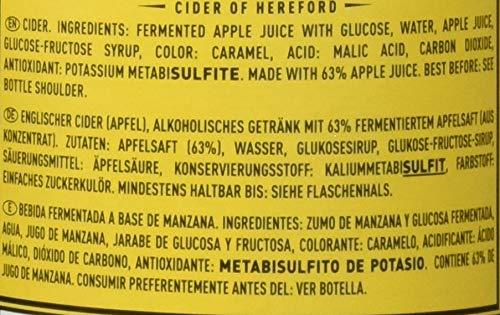 Bulmers Cider - Box of 12 Bottles x 500 ml - Total: 6 L