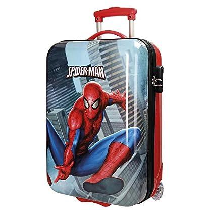 Spiderman City Equipaje Infantil, 55 cm, 34 Litros, Multicolor