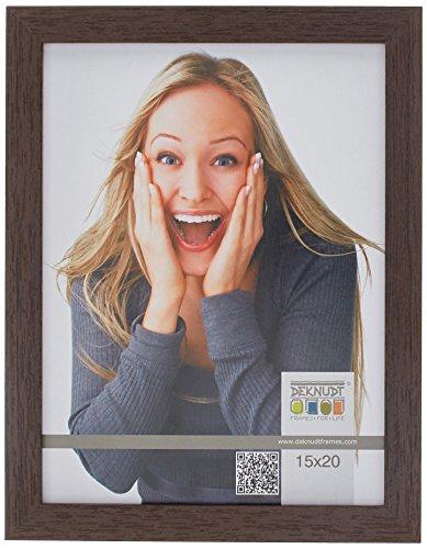 Preisvergleich Produktbild Deknudt Frames S44CH4 Bilderrahmen 15x20 Basic,  Dunkelbraun schmal,  Holz (MDF) Holz Fotokader