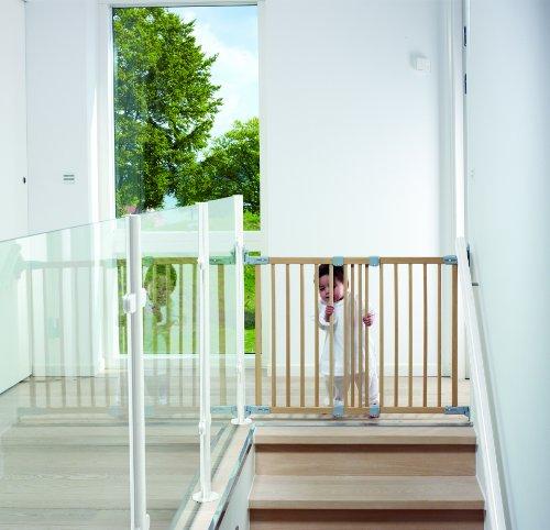 haya, nueva versi/ón BabyDan Multidan Barrera de seguridad ampliable en madera
