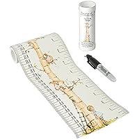 Talltape–Portátil, roll-up altura Gráfico Plus 1Sharpie Mini rotulador para medir niños desde el nacimiento hasta la Edad Adulta–elección de 8diseños...