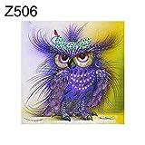 Yongqxxkj - Quadro a punto croce, motivo: gufo, farfalle, gatto e cigno, Z506, Z506, Z506