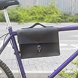 Classic Rahmen Satchel Tasche für Bike aus echtem Leder, schwarz Bike Fahrrad Tasche