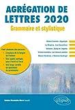 Grammaire et stylistique - Agrégation de lettres 2020