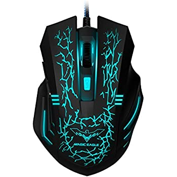 d3421a7df54 HAVIT 3200DPI Gaming Mouse Wired Optical Mouse with 7 Cycled Breathing  Colours LED Lights 4 Adjustable DPI and 6 Buttons (MS672)