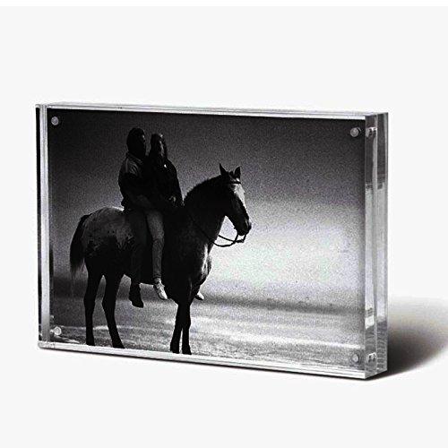 """Bloc Cadre photo magnétique,Cadres Photos Acrylique Transparent avec fermeture magnétique(4x6"""")"""