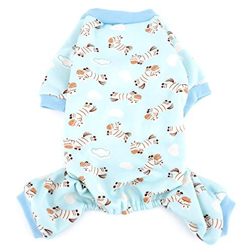 Ranphy Hunde-Pyjama, für kleine Hunde - Green Christmas Pyjama