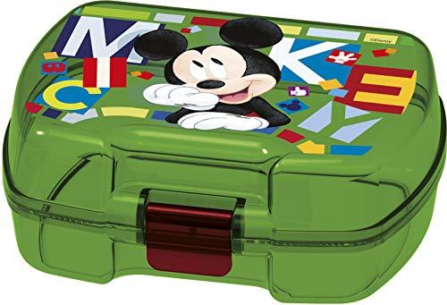 ALMACENESADAN 2001, Sandwich Maker Rechteckige Mehrfarbige Disney Mickey Mouse-Aquarelle, Kunststoffprodukt; BPA frei; Abmessungen 18x14x7 cm