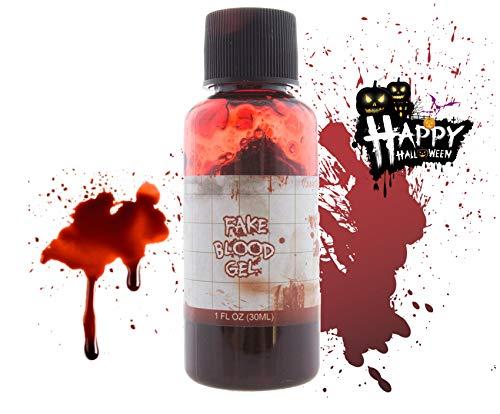 TK Gruppe Timo Klingler Sangre Artificial de Halloween Maquillaje de Sangre Sangre roja para la Piel, Cara como suplemento para Disfraces Caballeros y Damas