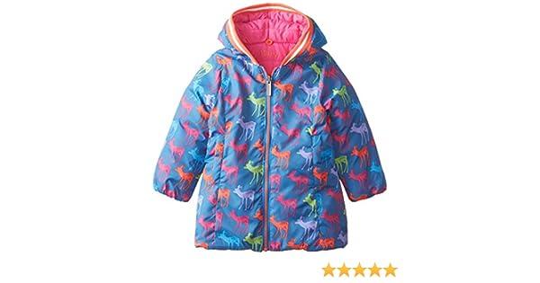 014bd5d8e6d3 Hatley Girl s Reversible Winter Puffer Graphic Deers Coat