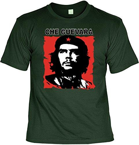 Che Guevara-Shirt/ T-Shirt mit Aufdruck: Che Guevara - tolles Motiv Dunkelgrün