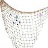 Decoración para manualidades de jardín, para el hogar, para el mar, papel para pared decorativo de fiesta de playa, red de pesca, concha.