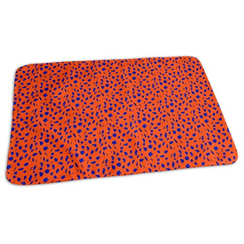 Royal Blue Dots On Orange Clemson Tigers Denver Broncos Chicago Bears Baby Portable Reusable Changing Pad Mat 19.7x 27.5 inch