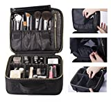 ROWNYEON Sacchetto Cosmetico Trucco Artisti Caso Di Trucco Portatile EVA Trucco Caso Dell'Agenda Elettronica (Piccola, Nero)