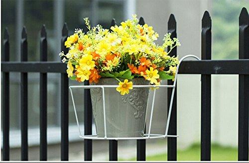 g-king Classic Reling Blume Pflanze Topflappen, Air Halterung für Garten Zaun (Garten Pflanzen Zaun)