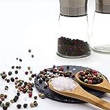 GOURMEO Gewürzmühle 2er Set mit verstellbarem Keramikmahlwerk – Edle Salz- und Pfeffermühle aus hochwertigem Edelstahl – für verschiedene Gewürze einsetzbar - 5