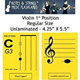 "Notes & Strings Violin 1st Position 4.25""X5.5"" Regular Size Flashcards"