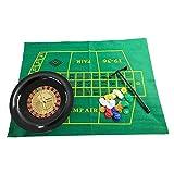 voloki Set di fiches da Poker con Ruote per Roulette Set di Ruote per Roulette per Feste Giochi da Tavolo per Il Tempo Libero per Divertimento in Famiglia