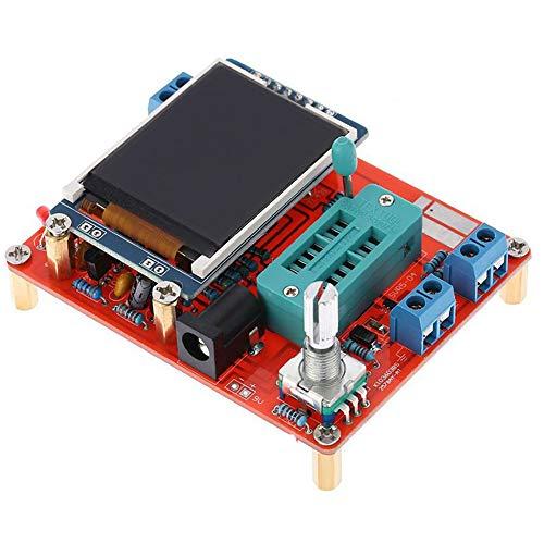Multifunktionaler LCD GM328 Transistor-Tester, NPN SCR FET LCD Display Transistor-Tester Frequenzmessgerät PNP, Diodenkapazität ESR Spannung Frequenz Meter PWM Square Wave Signal Generator -