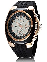 iSweven isweven V6 series trend fancy strap men's sports watch Analogue Black Unisex Wrist Watch W1013ee