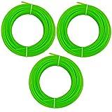 Land-Haus-Shop Lot de 3 rouleaux de fil en plastique pour débroussailleuse 2mm x 15m (LHS)