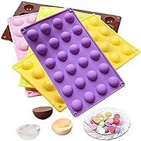Forma e cuocere stampo in silicone, 24fori in silicone semisfera cioccolato ghiaccio stampo per cottura Candy Cookie cake Decorating Tools