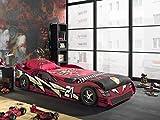 Vipack Autobett Sport Car, 90 x 200 cm, rot lackiert
