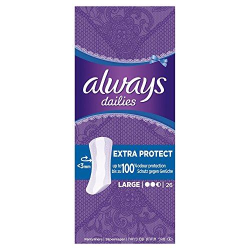 Always Extra Protect Slipeinlagen Large, 8er Pack (8 x 26 Stück)