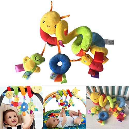 Alexsix Baby Mobile Krippe Musik Spielzeug Kind Krippe Kinderbett Kinderwagen Klingeln Bett Glocken Spirale Rasseln Spielzeug (Mobile Baby-krippe-mädchen)