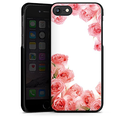 Apple iPhone X Silikon Hülle Case Schutzhülle Rosen Blüten Pink Hard Case schwarz