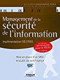 Management de la sécurité de l'information...