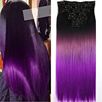 Neverland Beauty 24 Inches (60cm) Full Head 7 Pieces 16 clips Clip in Hair