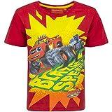 Blaze e le Mega Macchine - T-shirt Maglia Maglietta a Maniche Corte Full Print- Bambino - Novità Prodotto Originale 6641EQ [Rosso - 8 ani - 128 cm]