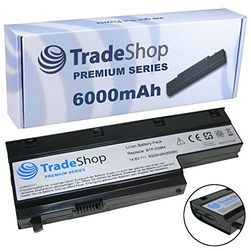 6000mAh Trade-Shop Premium Series Li-Ion Akku 14,4V/14,8V für Medion Akoya E7211 E7212 E7214 E7216 P7611 P7612 P7614 P7618 P7810 P7615 MD97437 MD97513 MD97558 (Original Akkuform, kein Überstehen, kein Schrägstellen)