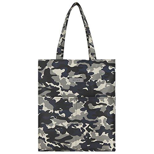 Moda escuela mochila Bookbag Casual cuadrado bolsa de hombro, Militar